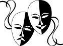 bl & wt theater masks