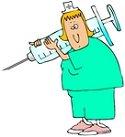 nurse giving shot
