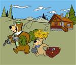 Yogi Bear camping